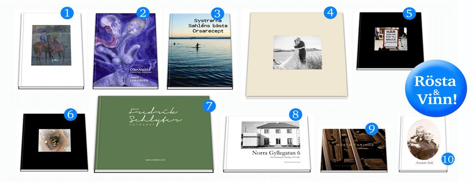 Sveriges bästa fotobok- valfritt tema - finalister