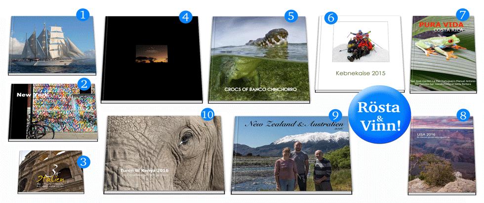 Sveriges bästa fotobok- resor och äventyr - finalister